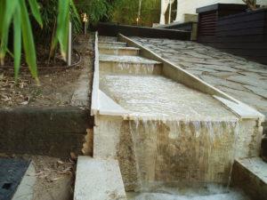 montaje cascada exterior